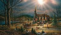 Terry Redlin God Shed His Grace On Thee S/n Paper Limited Edition Country Church