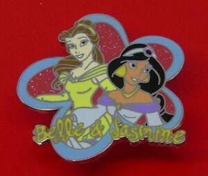USED-Disney-Enamel-Pin-Badge-2004-Belle-and-Jasmine-Characters