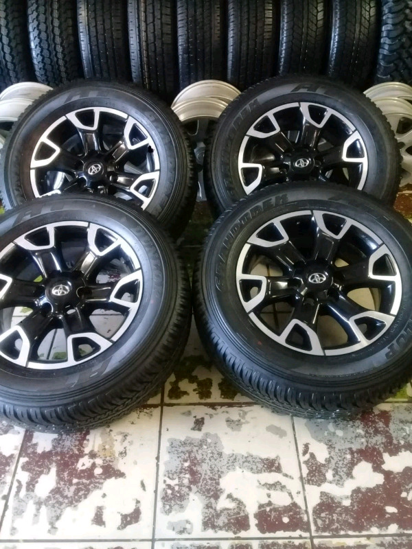 """TOYOTA HILLUX/FORTUNER RIMS AND TYRES (18""""LEGEND FIFTY) X4"""