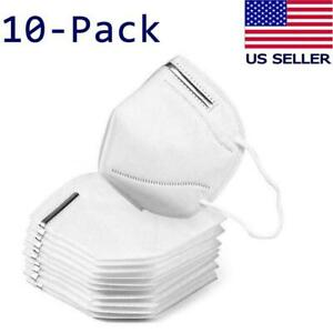 10 PACK KN95 Disposable Protective Face Mask Respirator CE Certified USA Seller