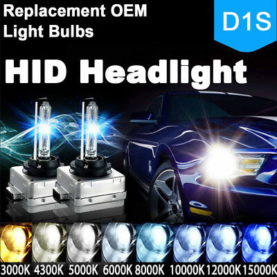 2 X 35W D1S HID XENON HEAD LIGHT BULBS STOCK HID LOW BEAM 6000K 8000K B
