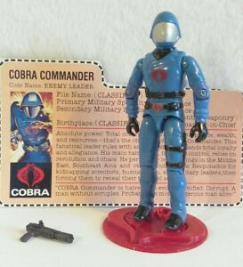 Vintage Hasbro GI Joe 1983 V1.5 Cobra Commander Complete W/File Card HK COO/EX+!