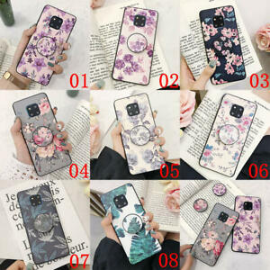 For-Samsung-Galaxy-S8-S9-S10e-S10-Plus-Flower-Pattern-Stand-Holder-TPU-Hard-Case