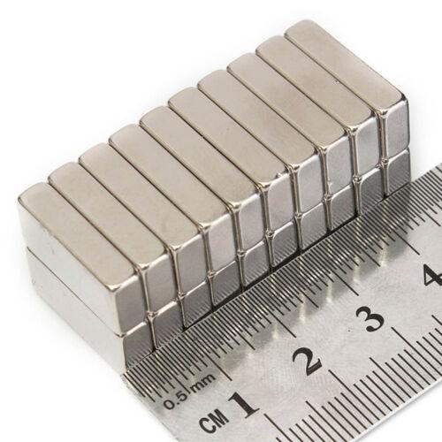 Très forte rare terre ndfeb néodyme barre bloc aimants 10mm - 20mm longueur