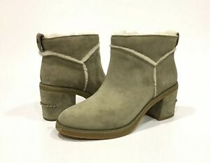 61a18420b4d Details about UGG KASEN II WOMEN ANKLE BOOTS ANTELOPE GREEN SUEDE  /SHEEPSKIN -US SIZE 8 -NEW