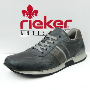 Rieker-Herrenschuhe-Sneaker-Schnuerschuhe-Halbschuhe-Grau-19411-45