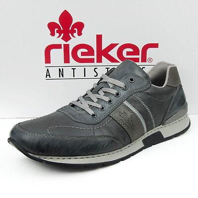 Rieker Herrenschuhe Sneaker Schnürschuhe Halbschuhe Grau oLGig