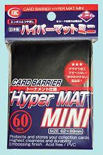 60 KMC MINI HYPER MAT BLACK Small Card Barrier NEW Matte Deck Protector Sleeves