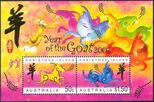 Isla de Navidad 2003 yo Cabra/saludos/animales/Lunar Zodiac/suerte 2v m/s n18379