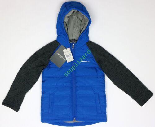 New Eddie Bauer Kids Toddler Hooded Black Blue Jacket NWT Size sz XS 3T 4T