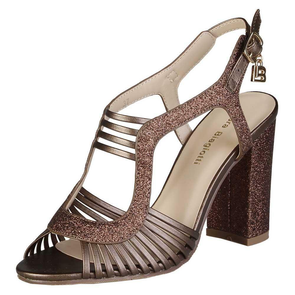CLEARANCE SALE Laura Biagiotti Style 402 – Bronze   Calf Colour Heels