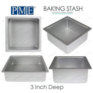 Pme Square Cake Pan Baking Tin 3 Inch Deep All Sizes