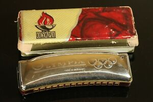 VINTAGE OLYMPIA HARMONICA MADE IN GERMANY 1976 OLYMPIC GAMES BERLIN