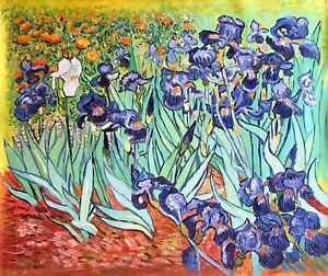 b2e1972b97f18 Details about Irises Oil Painting Reproduction on a Quality Linen Canvas by  Vincent van Gogh