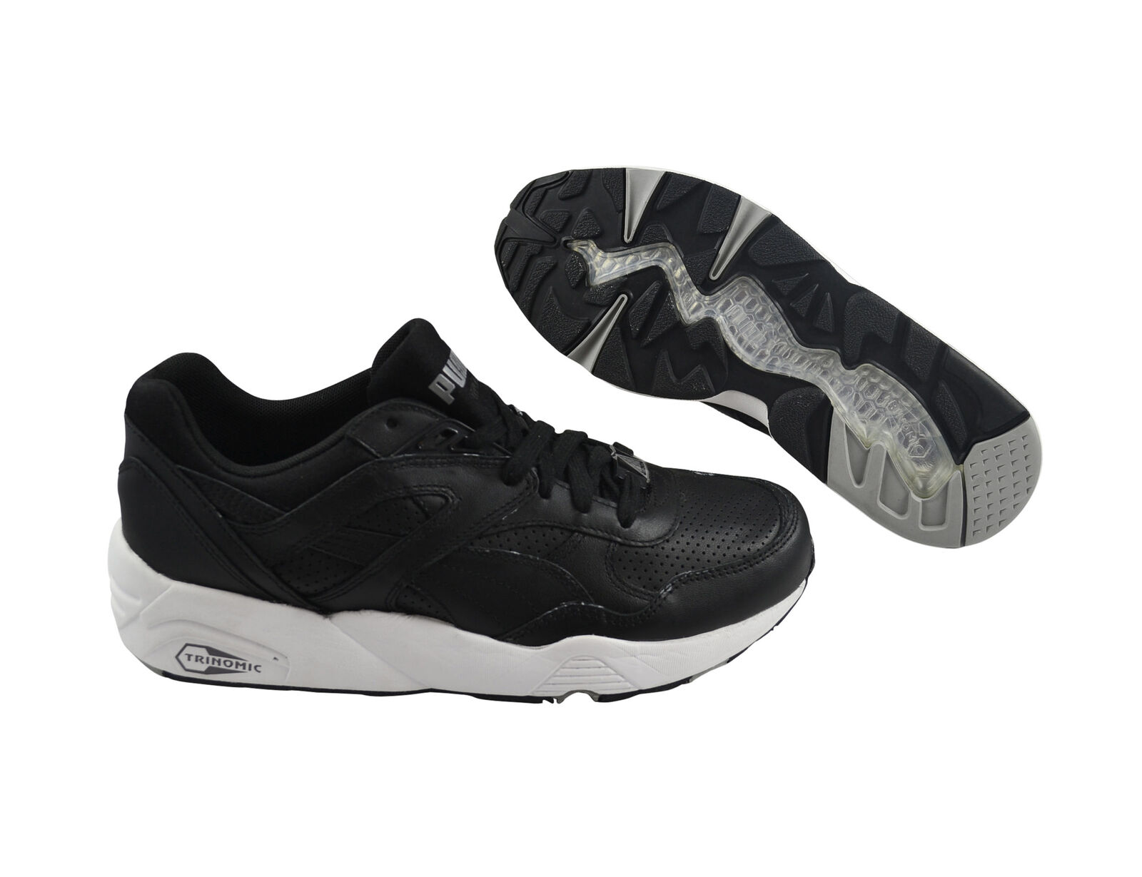 Puma R698 Core Leather black/black/drizzle Schuhe/Sneaker 360601 02