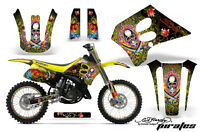 Suzuki Rm 125 Graphic Kit Amr Racing Plates Decal Rm125 Sticker Part 93-95 Edp