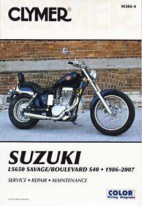 clymer repair manual suzuki ls650 savage boulevard s40 ebay rh ebay com Suzuki Savage 650 suzuki boulevard s40 service manual