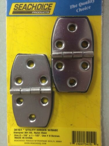 UTILITY HINGE SEACHOICE 34151 STAINLESS PAIRS BOATINGMALL STORE  BOAT PART