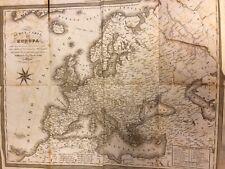 Antica carta dell'Europa 1844 tratta da Luigi Zucoli in Milano  31/08