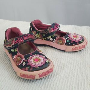 4817f77755c Lelli Kelly Girls Toddler Mary Jane Pink Blue Floral Beaded Shoes US ...