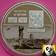 2010 Battle of Britain WWII Winston Churchill £5 Size Proof Medal Coin