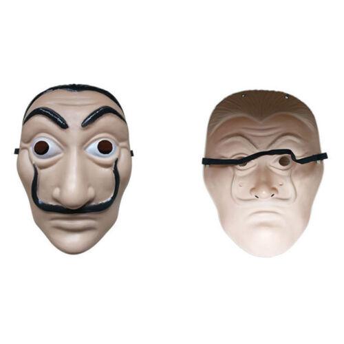 Halloween Kostüm Salvador Dali La Casa De Papel Haus des Geldes Overall+Mask 201