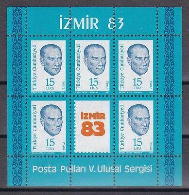 Türkei 1983 Postfrisch Minr Briefmarken Block 23 Nationale Briefmarkenausstellung Izmir StraßEnpreis