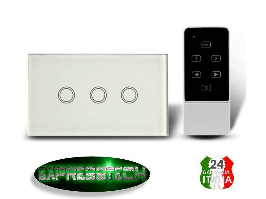 INTERRUTTORE LUCE TOUCH TOUCH TOUCH SCREEN SUPPORTO 503 VETRO TEMPERATO  LUCE LED b6c0bc