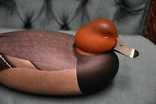 RICK FREDERICK BROWN NEW JERSEY HAND CARVED  HOLLOW WOOD REDHEAD  DUCK DECOY NEW