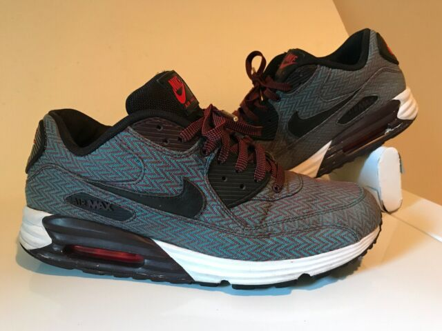 Nike Air Max Lunar 90 PRM QS Size 10 Nike 705068 600 Herringbone Hyper Jade Blk