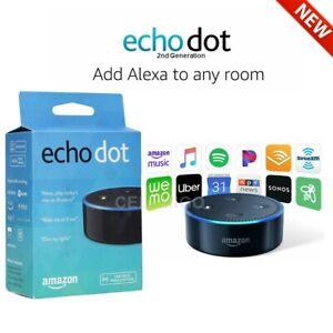 NEW-Amazon-Echo-Dot-2nd-Generation-Smart-speaker-with-Alexa-Black-US-Version