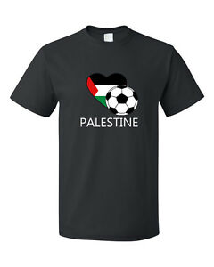 Palestine-Soccer-Team-Football-Futbol-Unisex-Black-T-Shirt-Tee-Top