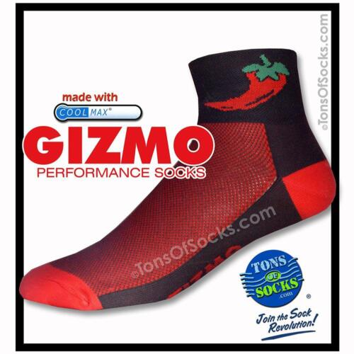red /& black Gizmo CoolMax® Chili Pepper Performance Socks