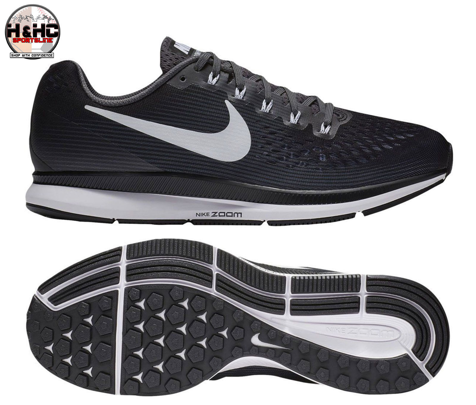 Nike Air Zoom Pegasus 34 TB 887009 001 Sz Black/Grey Men's Running Shoe Sz 001 10.5 df45f7