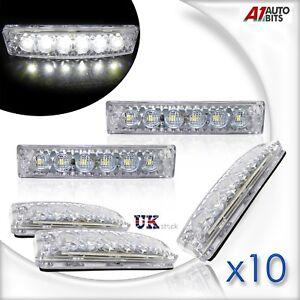 10X-12V-Marker-Lights-LED-Front-White-Side-Lamp-Truck-Trailer-Lorry-Bus