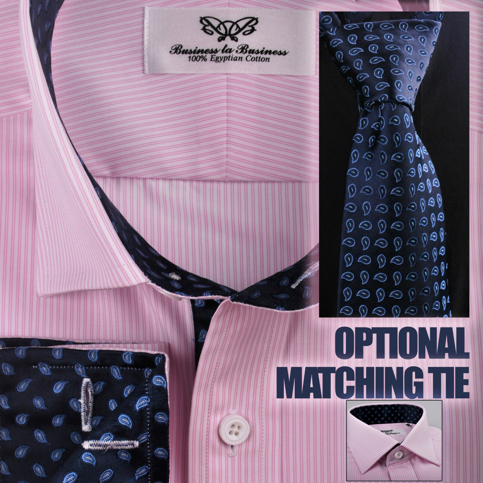ceceb07b Pink Business Dress Shirt Striped Navy bluee Hot Fire Flame Paisley Floral  Formal nbmnsq20134-Formal Shirts