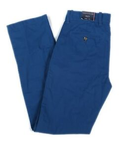 NWT-Tommy-Hilfiger-Men-039-s-Pant-Regular-Rise-Straight-Leg-Zip-W28-L32-Blue