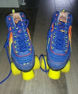 blue-rio-retro-roller-boots-size-1-roller-derby