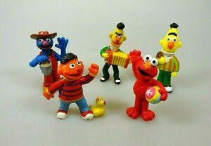 Sesamstrasse-Elmo-Bert-Ernie-Grobie-5-Sammelfiguren-Muppets
