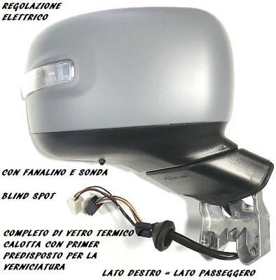 Retrovisore 2014 Elettrico Termico Con Fan Con Sonda Nero Destro Lato Passeggero