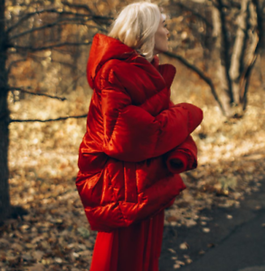 Womens-Red-Puffer-Oversized-Short-Coat-Hooded-Down-Cotton-Coat-Thicken-Warm-New