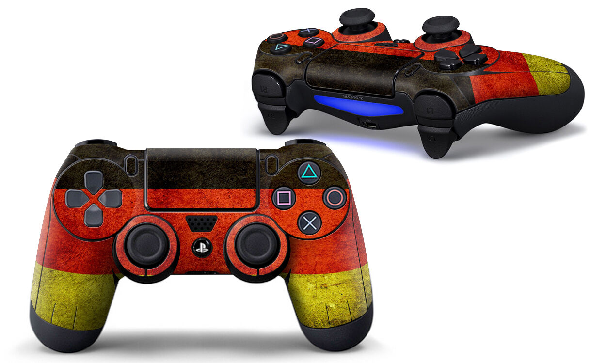 Sony PS4 PLAYSTATION 4 Controller Skin Screen Set (2 Piece) - Germany Motif