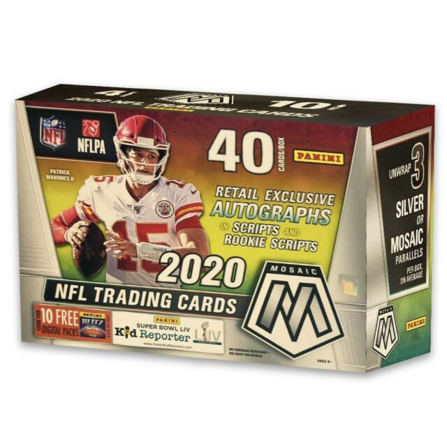 MEGA BOX 2020 NFL Mosaic Football Trading Card NEW | IN HAND | READY TO SHIP