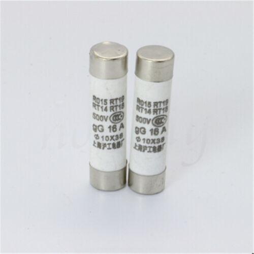 5//10X 38mm R015 Fast Blow Fuse 1A 2A 3A 4A 5A 6A 8A 10A 16A 20A 25A 32A 500V