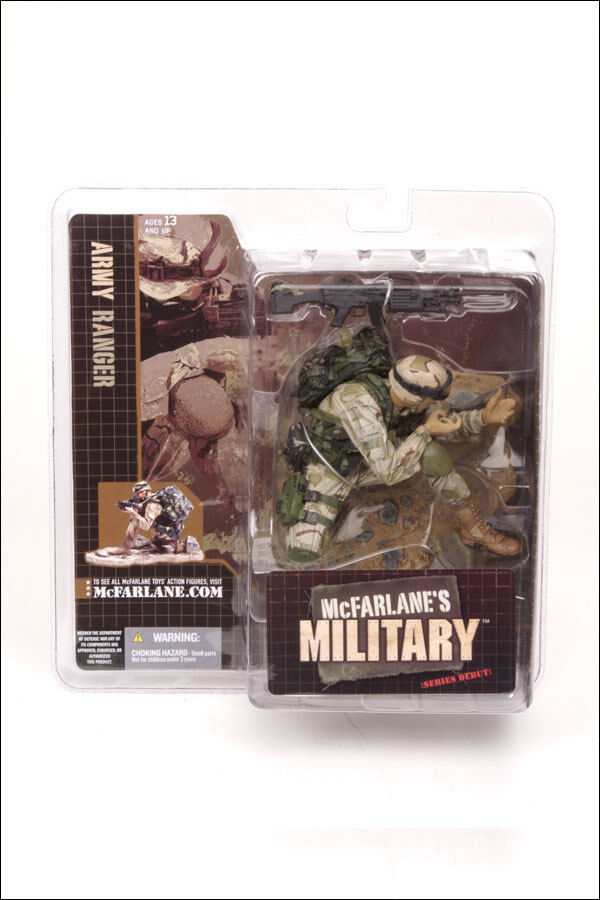 McFarlane Toys Military Series 1 Army Ranger Action Figure Nuovo 2005 .