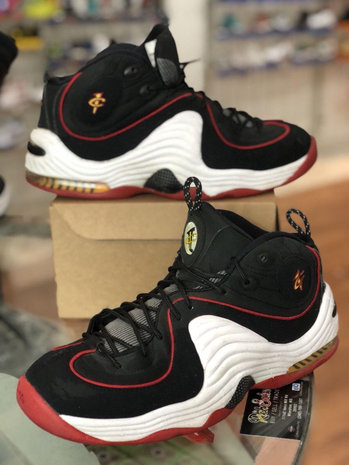 Nike Air Penny II 2 Miami Heat Hardaway Black Mens Shoes Size 10.5 333886-002