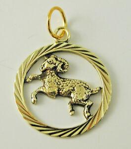 Aries-ram-zodiac-pendant-charm-14-carat-gold-1-7-grams