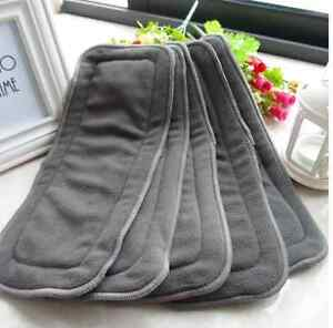5X-5-Layers-Bamboo-Charcoal-Cloth-Nappy-Reusable-Washable-Baby-Diaper-Insert