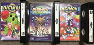 Bulk-Lot-X3-Digimon-Vhs-Tapes