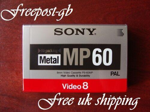 A Excelente SONY P5-60MP 8mm /& Hi8 Videocámara Cinta de partículas de metal//Cassette